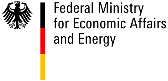 Logo of the Federal Ministry for Economic Affairs end Energy